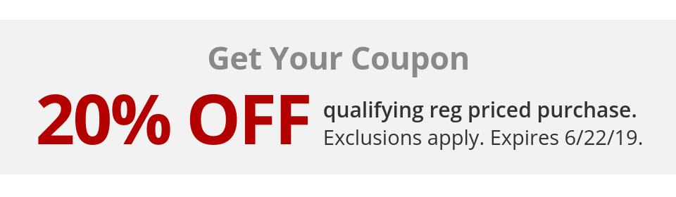 20% Off Regular Priced Purchase