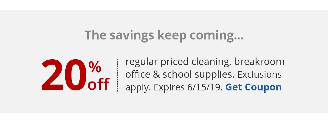 20% off qualifying regular purchase