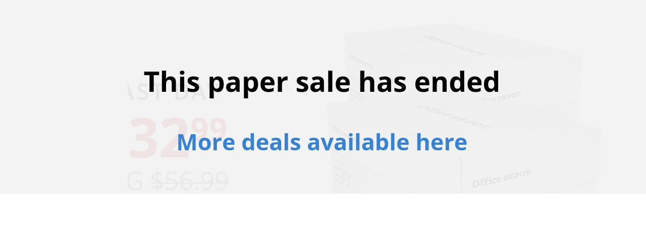$32.99 Office Depot® 10-ream Copy Paper