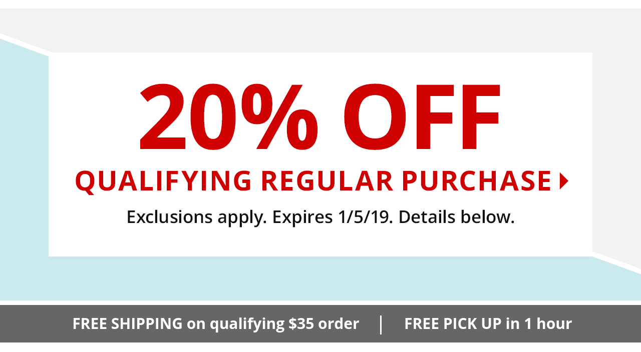 Save 20% Qualifying Regular Priced Purchase
