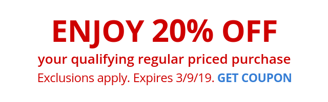 20% off Qualifying regular priced purchase